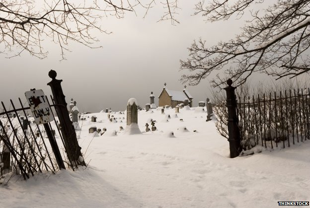 Churchyard in winter