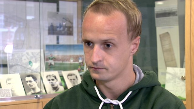 Hibs striker Leigh Griffiths