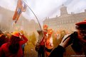 People celebrate  in Amsterdam,