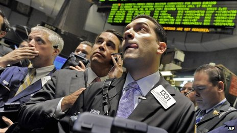 Traders in New York during the 2008 crash