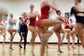 Dancers perform at an open audition to join the world famous Rockettes