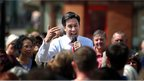Labour Party Leader Ed Miliband talks to members of the public in Hastings town centre.