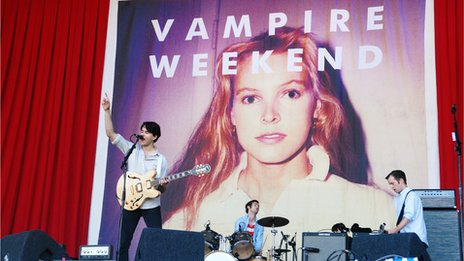Vampire Weekend at Glastonbury in 2010