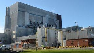 Heysham One nuclear plant