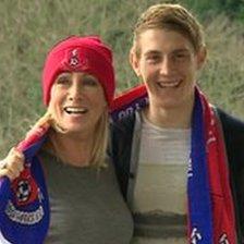 Karen Millen with her son Josh Stanford