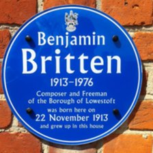 Benjamin Britten plaque, Lowestoft