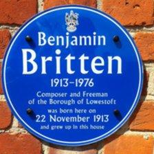 Benjamin Britten plaque, Lowestoft
