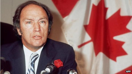 Prime Minister Pierre Elliott Trudeau
