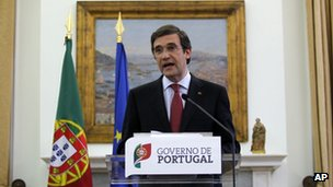 Portuguese Prime Minister Pedro Passos Coelho making an address to the nation, 3 May 2013