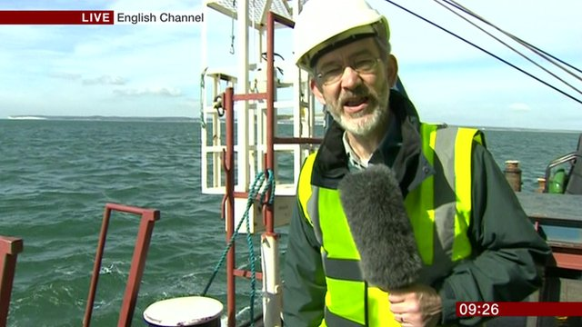 BBC's Nick Higham with a salvage team