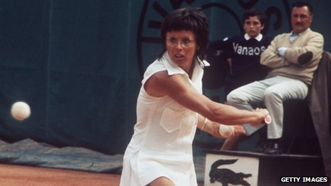 Billie Jean King in the early 1970s just before founding the WTA