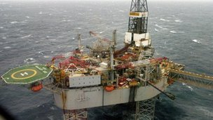 The Buzzard oil field in the North Sea, 50 miles from Aberdeen's coastline