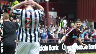 Kevin McHattie cracked in a long-range free-kick for Hearts