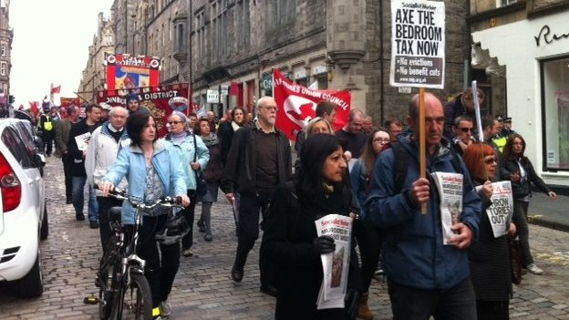 May Day march in Edinburgh