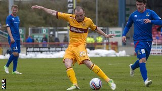 James McFadden scores for Motherwell against Inverness