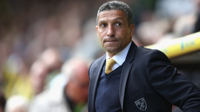 Norwich boss Chris Hughton