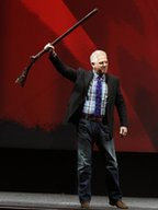 Glenn Beck speaks during the NRA convention