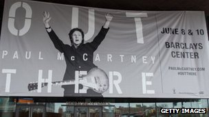 McCartney tour publicity