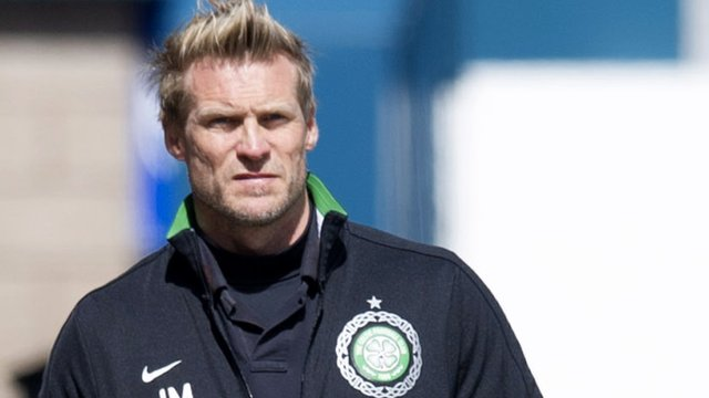 Celtic assistant manager Johan Mjallby