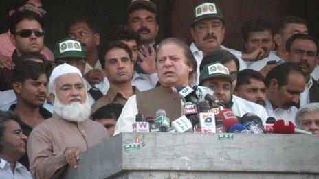 Nawaz Sharif speaks at Sargodha rally