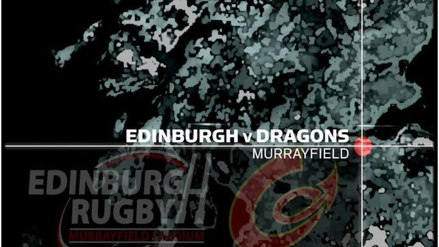 Edinburgh v Dragons graphic