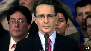 Former Colombian President Alvaro Uribe. File photo