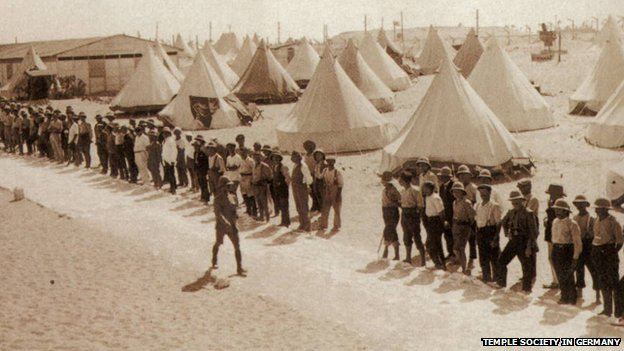 Templers in internment camp in Sidi Bishr, Egypt, 1918