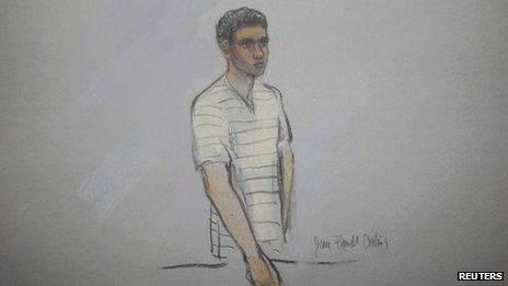 Defendant Robel Phillipos is pictured in a courtroom sketch, appearing at the John Joseph Moakley United States Federal Courthouse in Boston, Massachusetts 1 May 2013