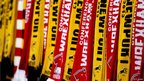 Flags from both sides were on sale outside Wembley