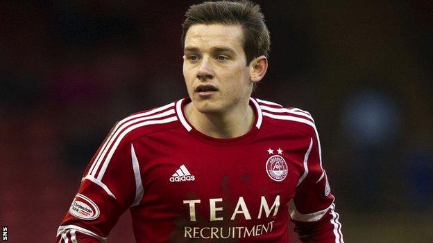 Aberdeen winger Peter Pawlett