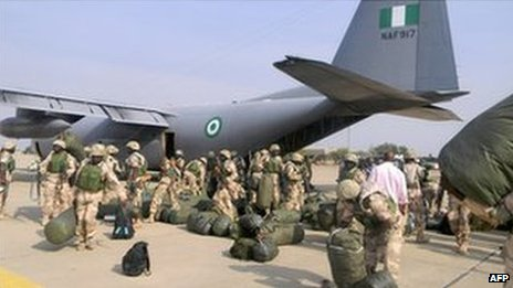 Nigerian troops prepare to leave for Mali (17 January 2013)