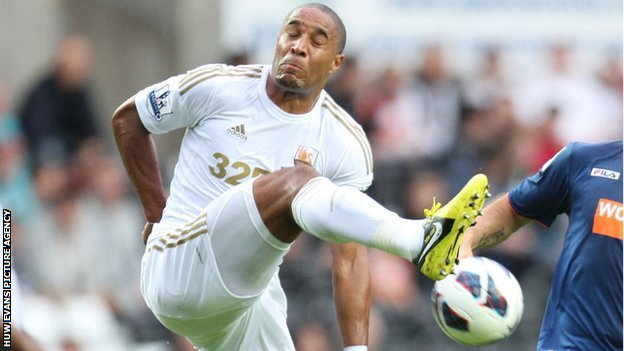 Ashley Williams in action for Swansea City