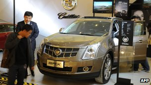 Cadillac car on display in China