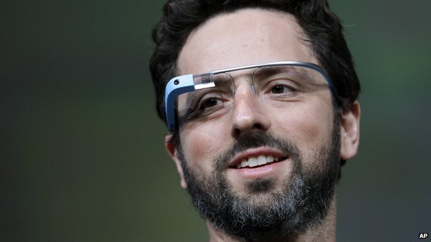 Google Glass worn by Google co-founder Sergey Brin