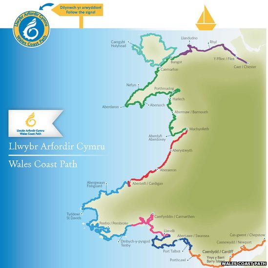 Map of coastal path