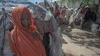 Arif displacement camp in Mogadishu, Somalia