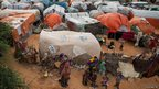 A camp for displaced people in Mogadishu, Somalia