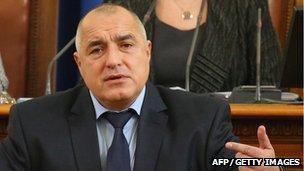 Former prime minister, Boiko Borisov, in parliament