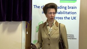Princess Anne at Chalkdown House
