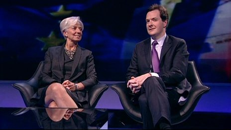 Christine Lagarde and George Osborne