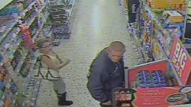 CCTV of Tia Sharp and Stuart Hazell