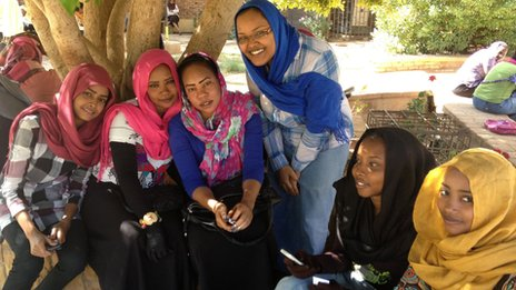 Students at Afhad University for Women, Khartoum