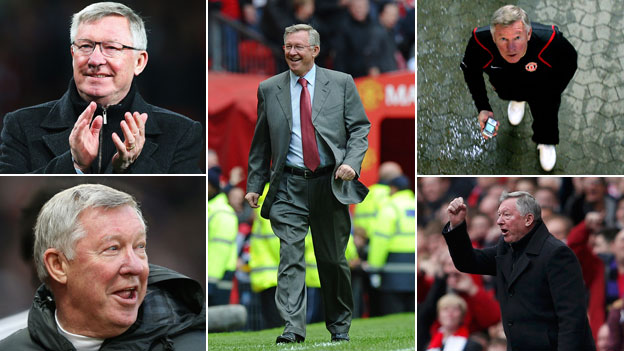 Various shots of Alex Ferguson