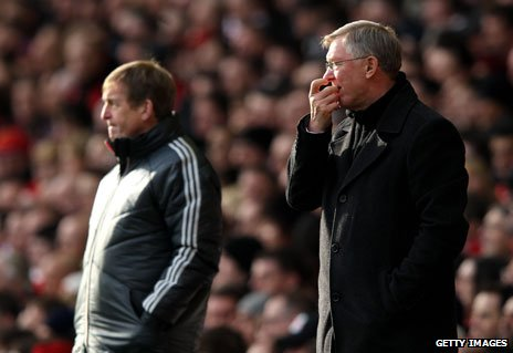 Kenny Dalglish and Alex Ferguson