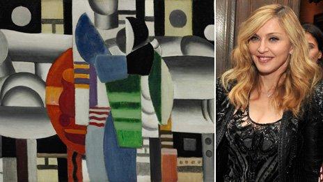 Leger's Trois Femmes a la Table Rouge and Madonna
