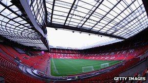 Man Utd's Old Trafford stadium