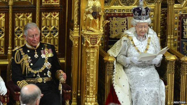 Queen and Prince Charles in House of Lords