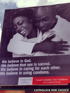 Catholics for Choice condom advert