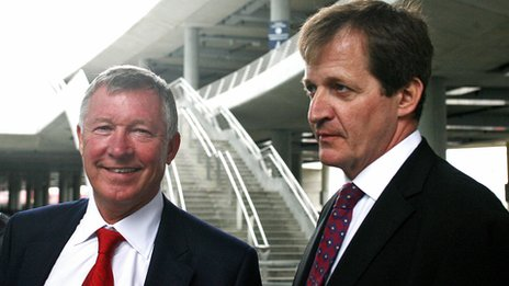 Alex Ferguson and Alistair Campbell