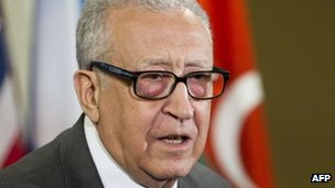 International and Arab League envoy for Syria, Lakhdar Brahimi